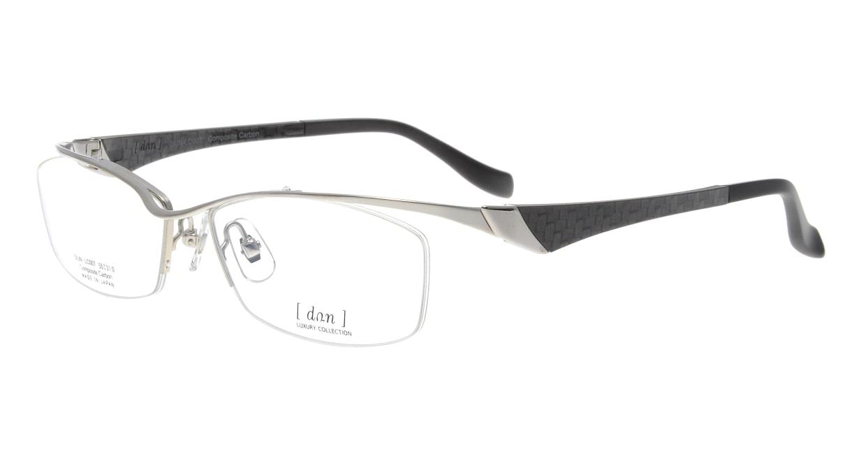 ドゥアン DUN-LC007-17-55 [メタル/鯖江産/ハーフリム/スクエア/シルバー]
