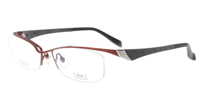 ドゥアン DUN-LC007-28-55 [メタル/鯖江産/ハーフリム/スクエア/赤]