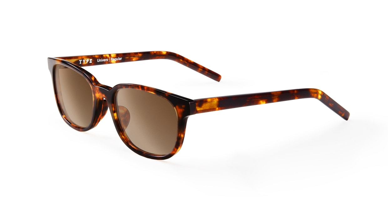 TYPE Univers Regular-Tortoise Sunglasses [鯖江産/ウェリントン]  1