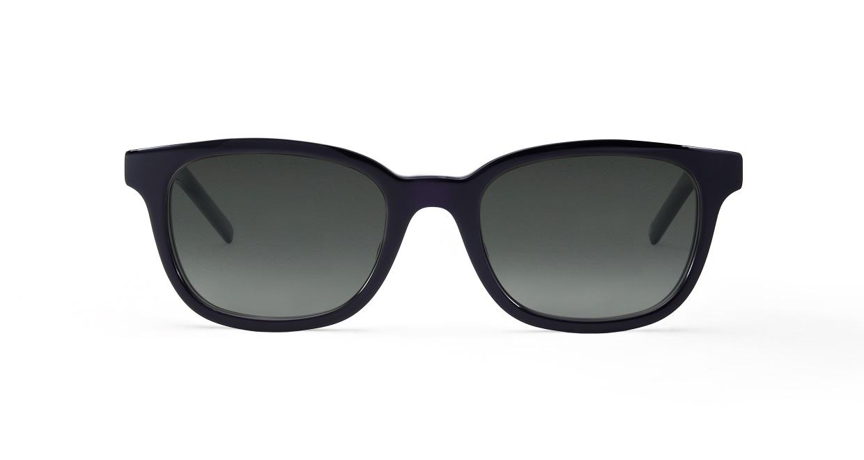TYPE Univers Bold-Black Sunglasses [鯖江産/ウェリントン]