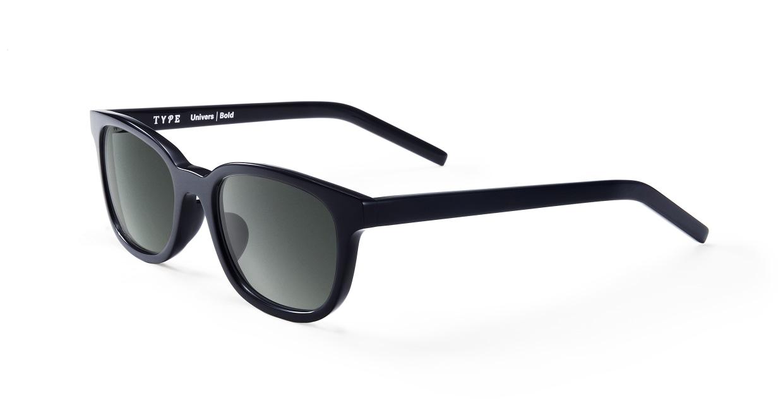 TYPE Univers Bold-Black Sunglasses [鯖江産/ウェリントン]  1