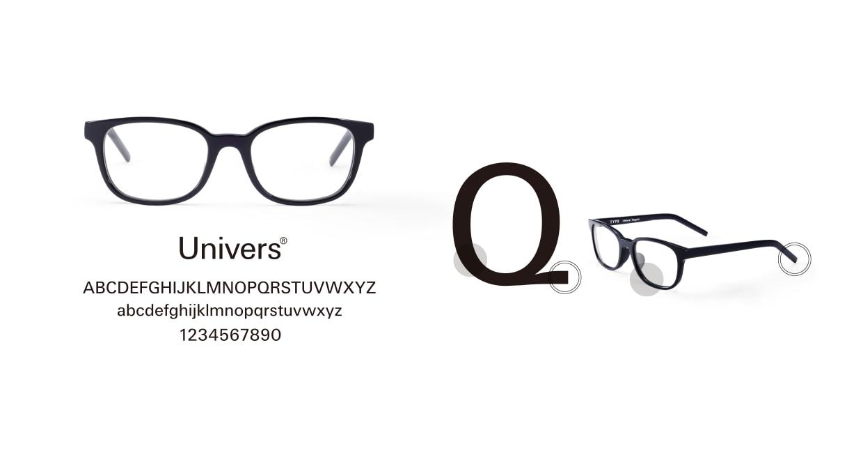 TYPE Univers Bold-Black Sunglasses [鯖江産/ウェリントン]  3