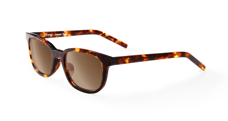 TYPE Univers Bold-Tortoise Sunglasses [鯖江産/ウェリントン]  1