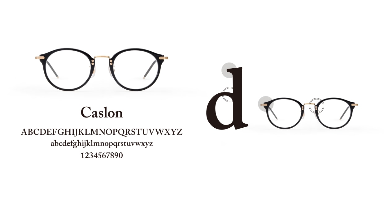 TYPE Caslon Light 01-BK-47SG [鯖江産/ラウンド]  3