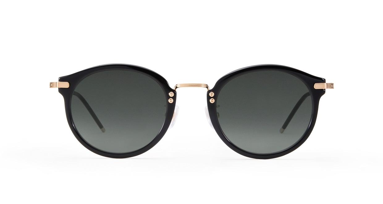 TYPE Caslon Bold-Black Sunglasses [鯖江産/ラウンド]