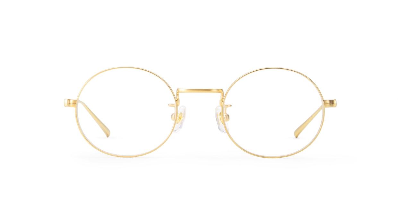 TYPE Copperplate Light-Gold [メタル/鯖江産/丸メガネ/ゴールド]