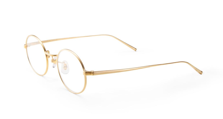 Copperplate Regular 03-GD-47 [メタル/鯖江産/丸メガネ/ゴールド]  1