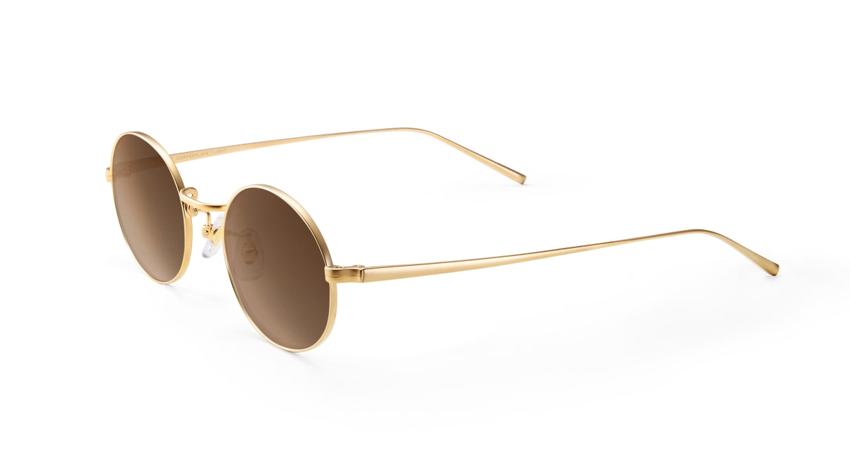 TYPE Copperplate Light-Gold Sunglasses [メタル/鯖江産/ボストン]  1
