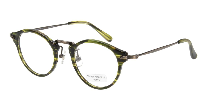 Oh My Glasses TOKYO Luke omg-025-8 [鯖江産/丸メガネ/緑]