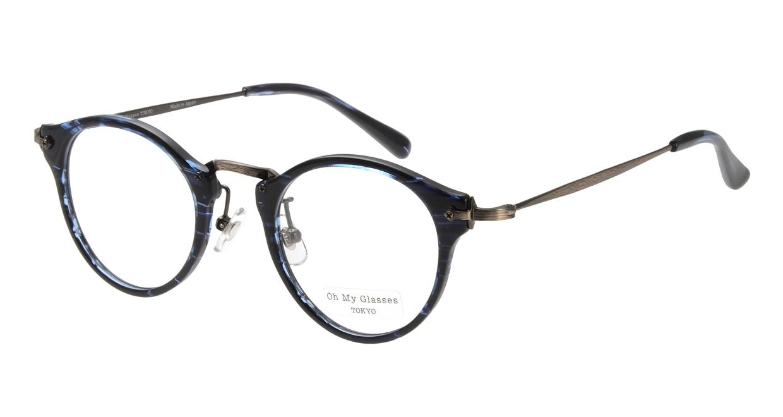 Oh My Glasses TOKYO Luke omg-025-9 [鯖江産/丸メガネ/青]