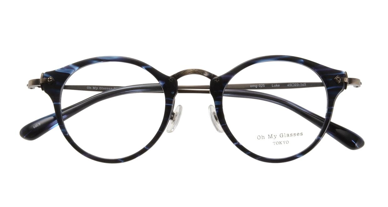 Oh My Glasses TOKYO Luke omg-025-9 [鯖江産/丸メガネ/青]  3
