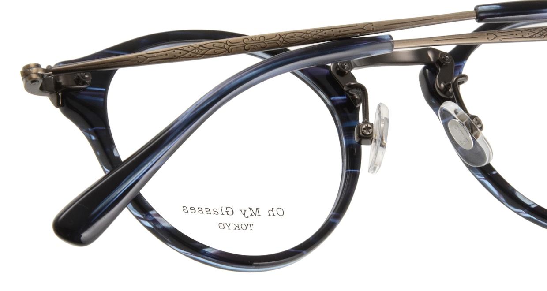 Oh My Glasses TOKYO Luke omg-025-9 [鯖江産/丸メガネ/青]  4