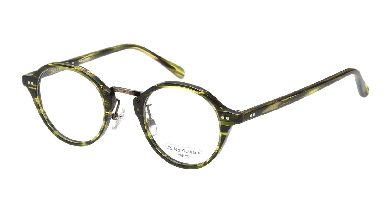 Oh My Glasses TOKYO Matthew omg-026-6 [鯖江産/丸メガネ/緑]