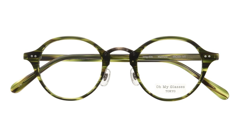 Oh My Glasses TOKYO Matthew omg-026-6 [鯖江産/丸メガネ/緑]  3