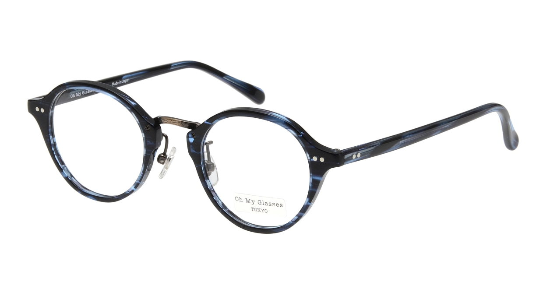 Oh My Glasses TOKYO Matthew omg-026-7-45 [鯖江産/丸メガネ/青]