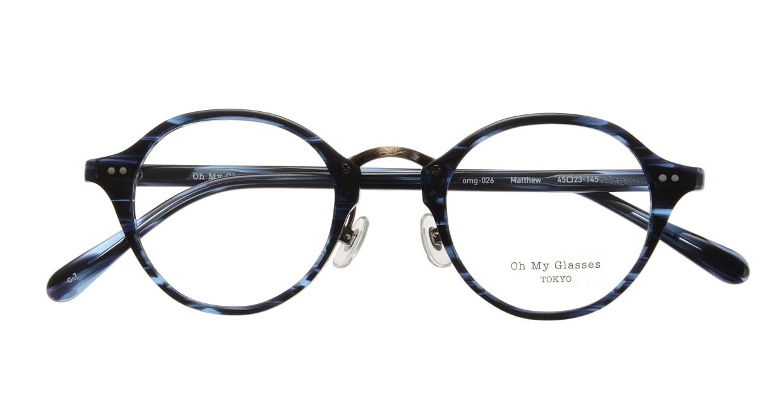 Oh My Glasses TOKYO Matthew omg-026-7 [鯖江産/丸メガネ/青]  3