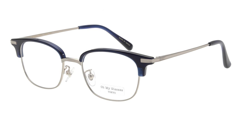 Oh My Glasses TOKYO Henry omg-041-7-50 [鯖江産/ウェリントン/青]