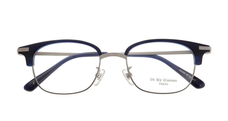 Oh My Glasses TOKYO Henry omg-041-7-50 [鯖江産/ウェリントン/青]  3