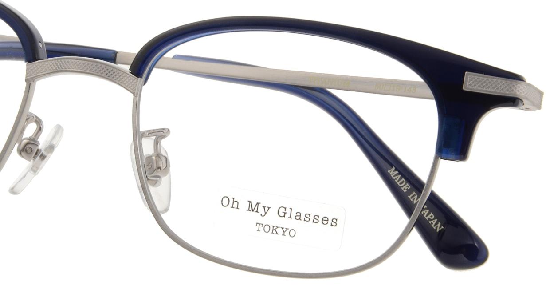 Oh My Glasses TOKYO Henry omg-041-7-50 [鯖江産/ウェリントン/青]  4