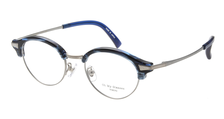 Oh My Glasses TOKYO Adam omg-051-6-47 [鯖江産/丸メガネ/青]