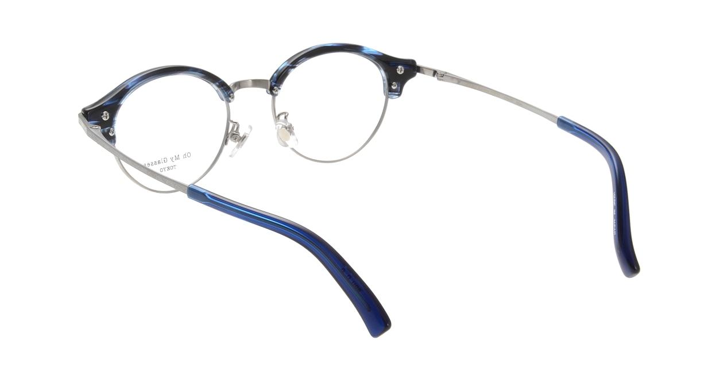 Oh My Glasses TOKYO Adam omg-051-6-47 [鯖江産/丸メガネ/青]  2