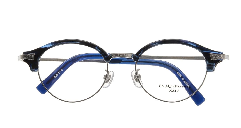 Oh My Glasses TOKYO Adam omg-051-6-47 [鯖江産/丸メガネ/青]  3