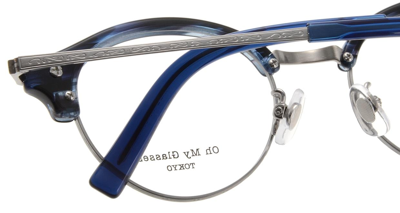 Oh My Glasses TOKYO Adam omg-051-6-47 [鯖江産/丸メガネ/青]  4