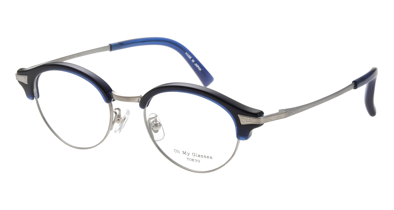 Oh My Glasses TOKYO Adam omg-051-7-47 [鯖江産/丸メガネ/青]