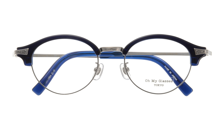 Oh My Glasses TOKYO Adam omg-051-7-47 [鯖江産/丸メガネ/青]  3