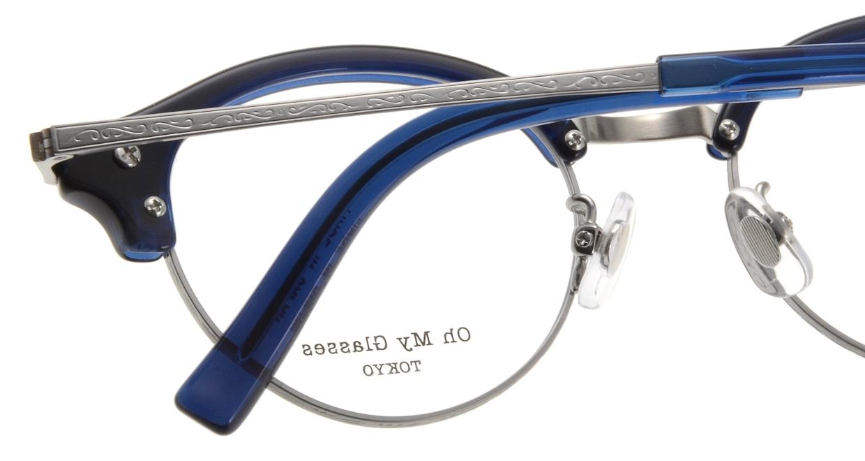 Oh My Glasses TOKYO Adam omg-051-7-47 [鯖江産/丸メガネ/青]  4