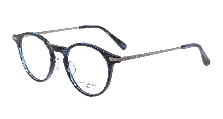 Oh My Glasses TOKYO Jamie omg-053-6-47 [鯖江産/丸メガネ/青]