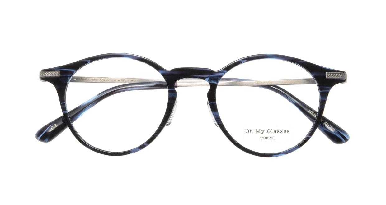 Oh My Glasses TOKYO Jamie omg-053-6-47 [鯖江産/丸メガネ/青]  3