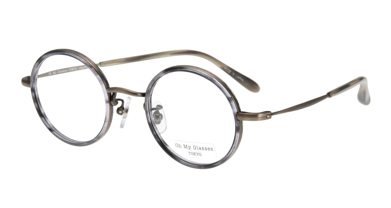 Oh My Glasses TOKYO Dustin omg-062-6-44 [鯖江産/丸メガネ/グレー]