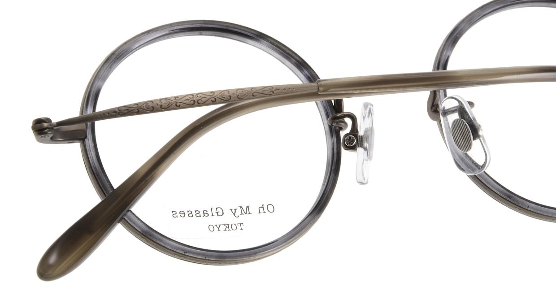 Oh My Glasses TOKYO Dustin omg-062-6-44 [鯖江産/丸メガネ/グレー]  4