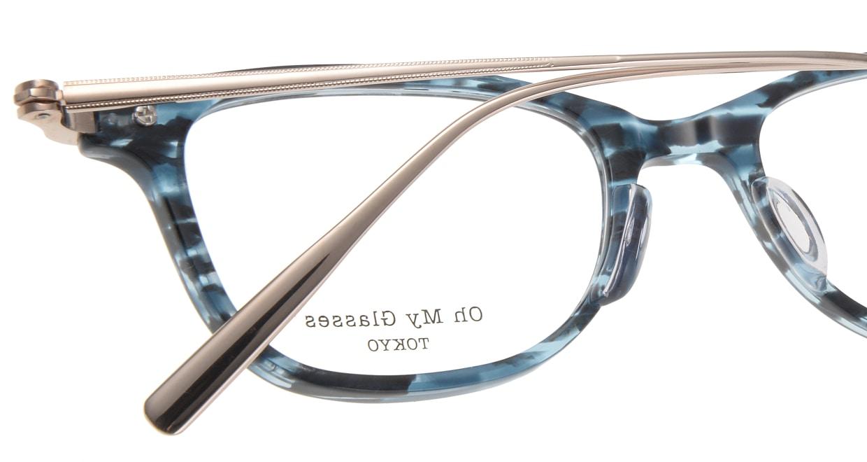 Oh My Glasses TOKYO Julian omg-066-4-47 [鯖江産/ウェリントン/青]  4