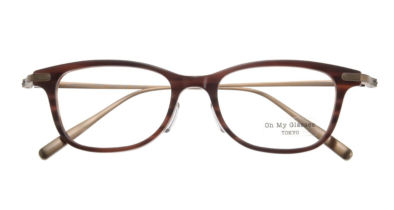 Oh My Glasses TOKYO Julian omg-066-17-12 [鯖江産/ウェリントン/茶色]  3