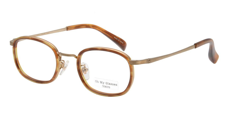 Oh My Glasses TOKYO Stuart omg-068-3-46 [鯖江産/ウェリントン/べっ甲柄]