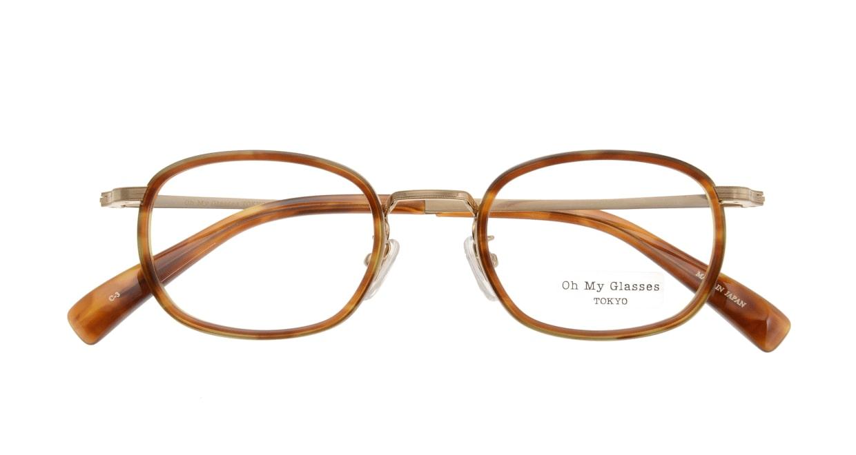 Oh My Glasses TOKYO Stuart omg-068-3-46 [鯖江産/ウェリントン/べっ甲柄]  3