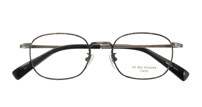 Oh My Glasses TOKYO Chris omg-069-1-48 [メタル/鯖江産/ウェリントン/グレー]  3