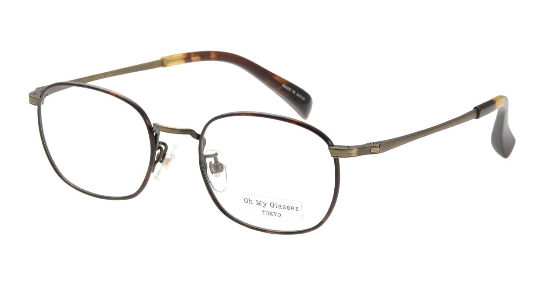 Oh My Glasses TOKYO Chris omg-069-2-48 [メタル/鯖江産/ウェリントン/べっ甲柄]