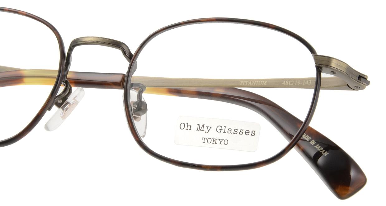 Oh My Glasses TOKYO Chris omg-069-2-48 [メタル/鯖江産/ウェリントン/べっ甲柄]  4