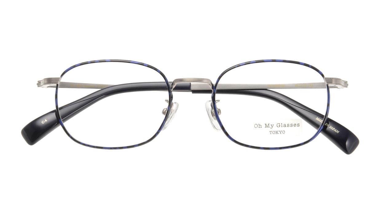 Oh My Glasses TOKYO Chris omg-069-4-48 [メタル/鯖江産/ウェリントン/青]  3