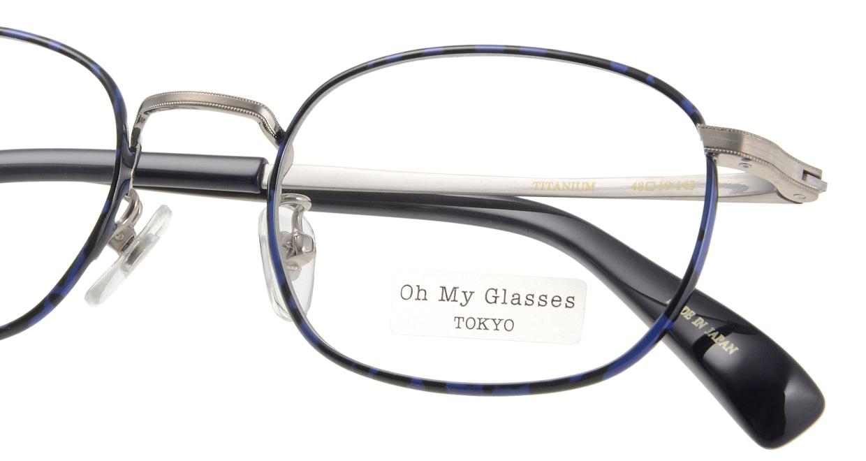 Oh My Glasses TOKYO Chris omg-069-4-48 [メタル/鯖江産/ウェリントン/青]  4