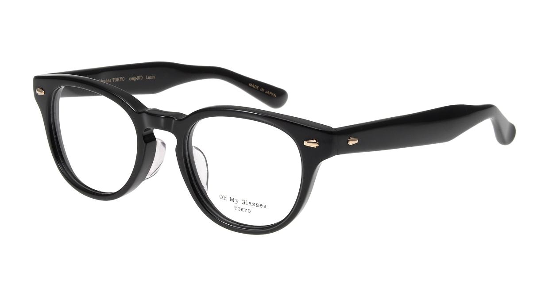 Oh My Glasses TOKYO Lucas omg-070-1-48 [黒縁/鯖江産/丸メガネ]
