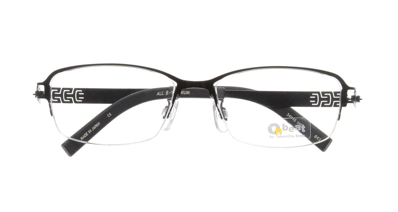 オンビート ONB-709H-BKS Shiny Black [メタル/鯖江産/ハーフリム/スクエア]  3