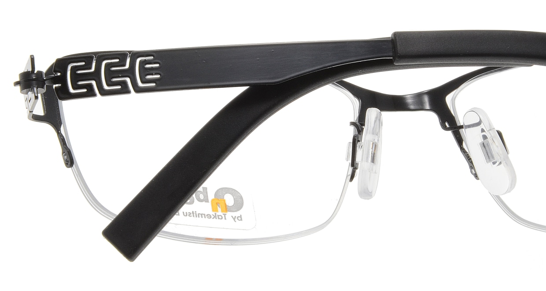 オンビート ONB-709H-BKS Shiny Black [メタル/鯖江産/ハーフリム/スクエア]  4