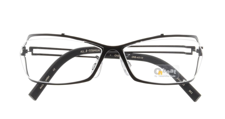 オンビート ONB-401H-BKS Shiny Black [メタル/鯖江産/スクエア]  3