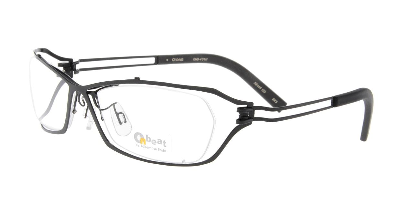 オンビート ONB-401H-BKS Shiny Black [メタル/鯖江産/スクエア]