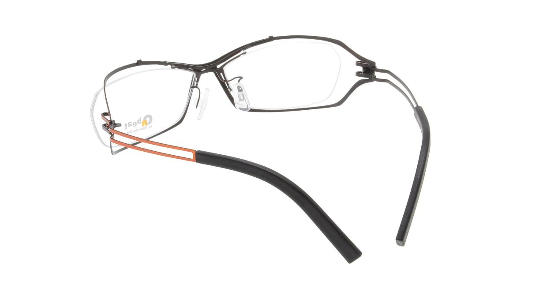 オンビート ONB-401H-Q09A Orange-Gray Gradation/Black [メタル/鯖江産/スクエア/赤]  2