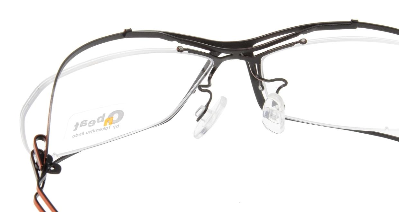 オンビート ONB-401H-Q09A Orange-Gray Gradation/Black [メタル/鯖江産/スクエア/赤]  4